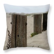 Old Fence Poles Throw Pillow