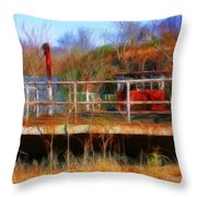 Old Ferry On The Cumberland Throw Pillow