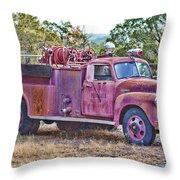 Old Firetruck Throw Pillow