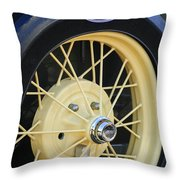 Old Ford Wheel Throw Pillow
