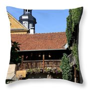 Old Franconian House Throw Pillow