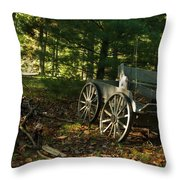 Old Frontier Wagon 1 Throw Pillow