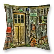 Old General Store Hdr Throw Pillow