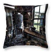 Old Ghost Town Stove - Molson Washington Throw Pillow