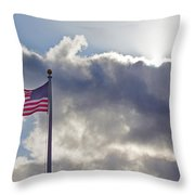 Old Glory In The Wind Throw Pillow