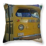 Old Gm Bus Throw Pillow