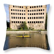 Old Granary In Gdansk Throw Pillow