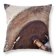 Old Grinding Wheel Throw Pillow