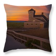 Old Harbor U.s. Life Saving Station Throw Pillow by Susan Candelario