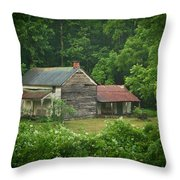 Old Home Place Throw Pillow by Douglas Barnett