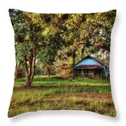 Old House On 98 Throw Pillow
