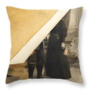 Old Image Throw Pillow by Bernard Jaubert