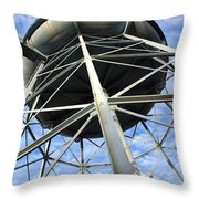 Old Iron Water Tower Throw Pillow