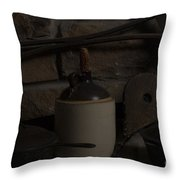 Old Items On A Stone Hearth 2 Throw Pillow