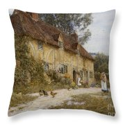Old Kentish Cottage Throw Pillow