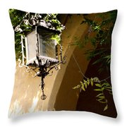 Old Lantern Throw Pillow
