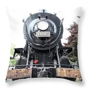 Old Locomotive Throw Pillow