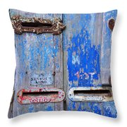 Old Mailboxes Throw Pillow