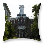 Old Main - Kutztown College Throw Pillow