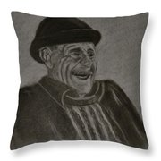 Old Man Laughing Throw Pillow