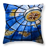 Old Map Of The Canary Islands Throw Pillow