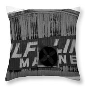 Old Marine Sign Throw Pillow