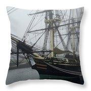 Old Massachusetts Sailing Ship Throw Pillow