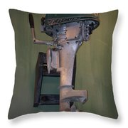 Old Mercury Boat Engine Throw Pillow