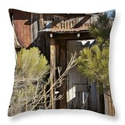 Old Miner's Cabin Throw Pillow