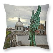 Old Montreal Angel Throw Pillow