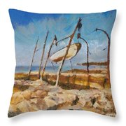 Old Moorings Throw Pillow
