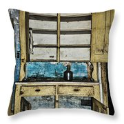Old Mother Hubbards Cupboard Throw Pillow