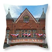 Old Music Hall Tarrytown New York Throw Pillow