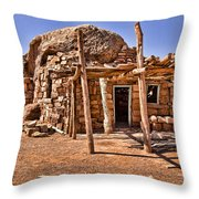 Old Navajo Stone House Throw Pillow