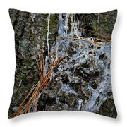 Old Needles And Sap Throw Pillow