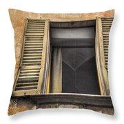 Old Open Window Throw Pillow