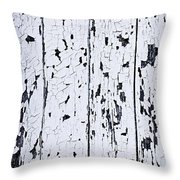 Old Painted Wood Abstract Throw Pillow