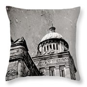 Old Parliament In Bc Throw Pillow