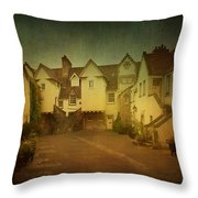 Old Part Of City Throw Pillow