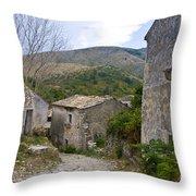 Old Perithia  Corfu  Greece Throw Pillow