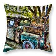 Old Pickup Throw Pillow