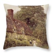 Old Post Office Brook Near Witley Surrey Throw Pillow