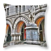 Old Post Office Pavillion Washington Dc Throw Pillow