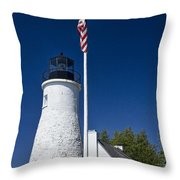 Old Presque Isle Light Station Throw Pillow