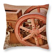 Old Pump Throw Pillow
