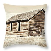 Old Ranch Hand Cabin L Throw Pillow