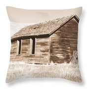 Old Ranch Hand Cabin Ll Throw Pillow