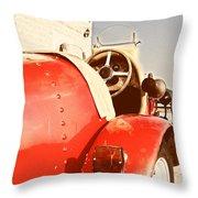 old Red Race Car Throw Pillow