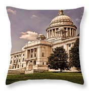 Old Rhode Island State House Throw Pillow by Lourry Legarde
