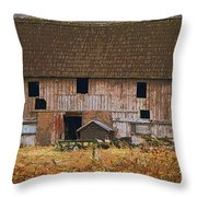 Old Rosedale Barn Throw Pillow